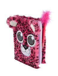 Justice Room Accessories Plush Cheetah Diary Journals Writing Beauty Tech