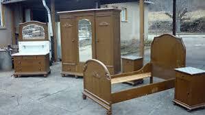 details zu altes antikes schlafzimmer schrank kleiderschrank waschtisch nachttisch bett