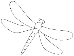 Simple Dragonfly Coloring Pages Printable