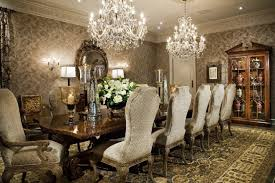 Luxury Dining Room Decoration With Fantastic White Crystal Wall Ideas Decor Small Decorating