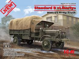 100 Het Military Truck ICM Models 35650 WWI US Army Standard B Liberty Scale Model