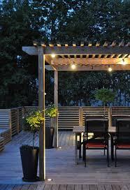 Outdoor Wooden Patio Outdoor Lighting Ideas 20 Amazing String