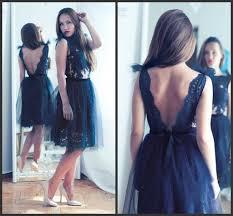 2016 short prom dresses backless dark navy homecoming dress