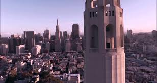 Coit Tower Murals Controversy by Drone Video Coit Tower San Francisco Youtube