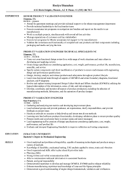Download Product Validation Engineer Resume Sample As Image File