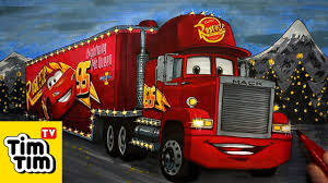 How To Draw Cars 3 Mack Hauler Christmas Truck, Easy Step-by-step ...