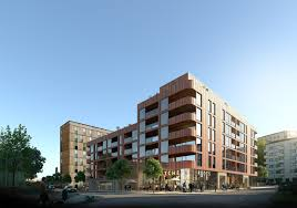 100 Apartments In Gothenburg Sweden Riksbyggen And Sweco Architects Win Competition For Wooden MixedUse