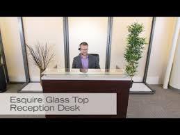 Esquire Glass Top Reception Desk