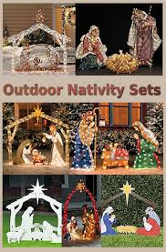 Outdoor Christmas Decorations Ideas Pinterest by 765 Best Nativity Sets Images On Pinterest Christmas Ideas