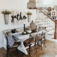 Farmhouse Dining Room Wall Decor And Also Formal Decorating Ideas Rustic