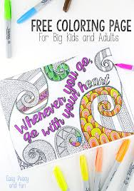 Free Coloring Page For Adults