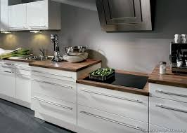 Modern White And Wood Kitchen Cabinets Outstanding Laminate