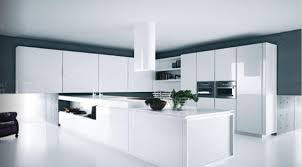 white gloss kitchen design with bright cabinets and accessories