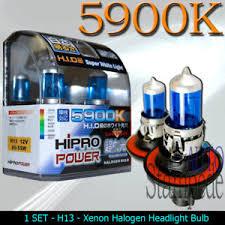 h13 white 5900k xenon halogen headlight bulbs ebay