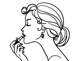 Make Up The Lips Coloring Page Coloringcrew Within How To A