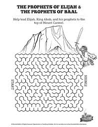 Elijah The Prophet 1 Kings 18 Bible Mazes This Maze Takes Your Kids Into