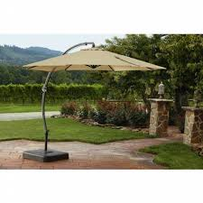 Patio Umbrella With Netting by Garden Oasis 11 5ft Steel Round Offset Umbrella W Base Limited
