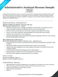 Administrative Assistant Resumes And Cover Letters Resume Sample Lovely Examples Of Office