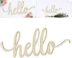 winomo holzbuchstaben deko schriftzug hello dekobuchstaben 3d wanddeko 30 5x12 7x0 4cm