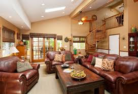 sloped ceiling recessed lighting for living room with