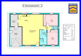 plan maison plain pied gratuit 3 chambres plan maison 70m2 3 chambres