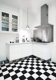 white and black tiles for kitchen design