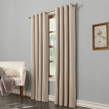 shop allen roth hesket 84 in neutral polyester grommet light