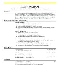 Modern Resume Example Accounting Clerk Finance Contemporary 5 Sample Of For Position Amazing Examples Template Word Doc Cv Accountant Uk