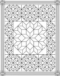 Inspirational Quilt Pattern Coloring Pages 35 With Additional Download