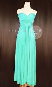 MAXI Turquoise Bridesmaid Dress Convertible Dress Infinity Dress