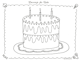 Free Printable Birthday Cake Coloring Pages For Kids With Page New Decorating
