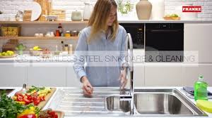 Franke Sink Grid Uk by How To Clean Your Franke Stainless Steel Sink Youtube
