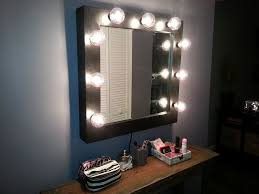 square lighted vanity mirror wall mount ideal and