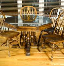 Ethan Allen Mahogany Dining Room Table by Ethan Allen Royal Charter Oak Dining Set Ebth