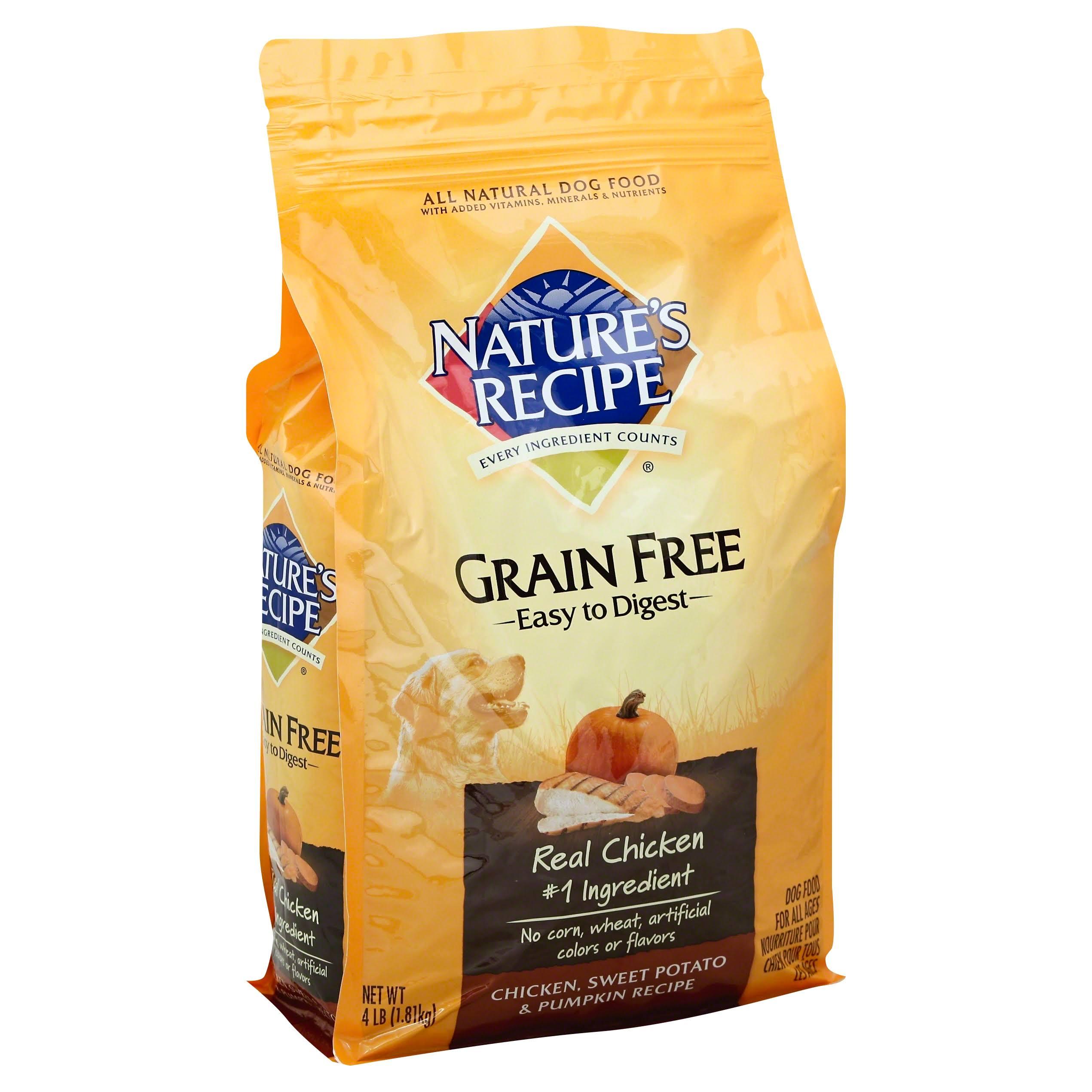 Nature's Recipe Grain Free Easy to Digest Dog Food - Chicken, Sweet Potato and Pumpkin Recipe, 4lbs