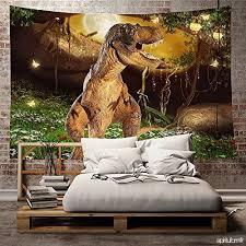deco chambre dinosaure enfant chambre decoration tapisserie murale polyester carré