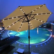 Walmart Patio Umbrellas With Solar Lights by Elegant Solar Patio Umbrella Solar Umbrellas Walmart Furniture
