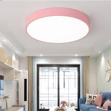 24w ultra dünn deckenleuchte le dimmbar mit fernbedienung rund leuchte für wohnzimmer schlafzimmer pink