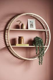 wood and rattan shelf