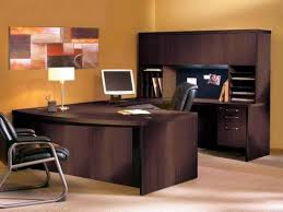 Realspace Broadstreet Contoured U Shaped Desk by U Shaped Desk Office Depot Desk U Shaped With Hutch By Office