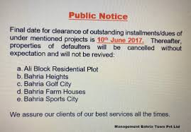57 Best Notice Images On Bahria Town Karachi в Notice Date For