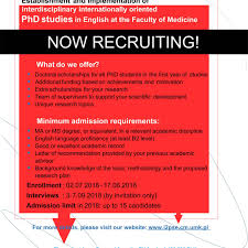 PhD Studies In English At The Faculty Of Medicine