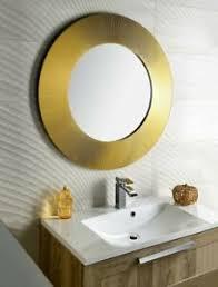 details zu badspiegel spiegel wandspiegel holzrahmen goldrahmen 90 cm gold wanddekoration