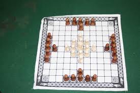 The Viking Game Hnefetafl Resin Cloth Chess Variant Board