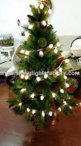 Outdoor Pine Cone Christmas Tree Lights 8 Mode Battery Operated String Fairy 40 Pure White LED On 148 Ft Clear Cable