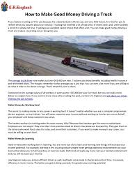 100 Truck Driver Average Salary How To Make Good Money Driving A By Quould155 Issuu
