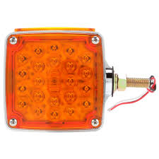 Signal-Stat, LED, Red/Yellow Square, 24 Diode, LH, Dual Face ... Truck Lite Led Headlights Lights 15 Series 3 Diode License Light Rectangular Bracket Mount 80 Par 36 5 In Round Incandescent Spot Black 1 Bulb Trucklite Catalogue 22 Yellow Side Turn 66 Clear Oval Backup Flange 7 Halogen Headlight Glass Lens Alinum 12v Signalstat Redclear Acrylic Lh Combo Box 26 Chrome Atldrl Universal 4 X 6 Snow Plow 21 High Mounted Stop 16 Red 60 Horizontal