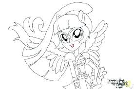 Coloring Pages Of Twilight Sparkle Pictures My Little Pony Friendship