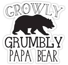 Growly Grumbly Papa Bear Stickers By Jazzydevil