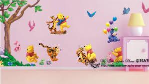 Winnie The Pooh Nursery Decor Ireland by Large Winnie The Pooh Wall Art Decal Removable Nursery Kids